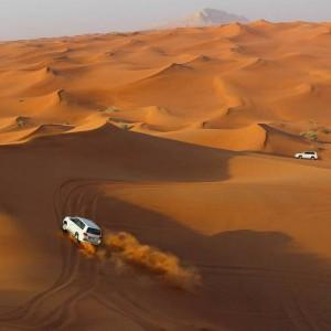 Dune bashing = adrenalin.