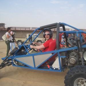 Köra dune buggies i Dubai = coolt!